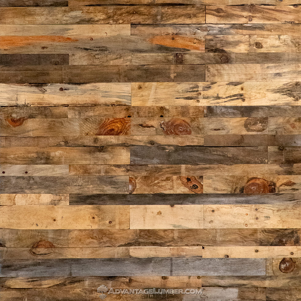 accent wall rustic