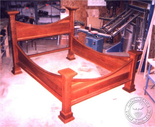 cherry wood bed frame