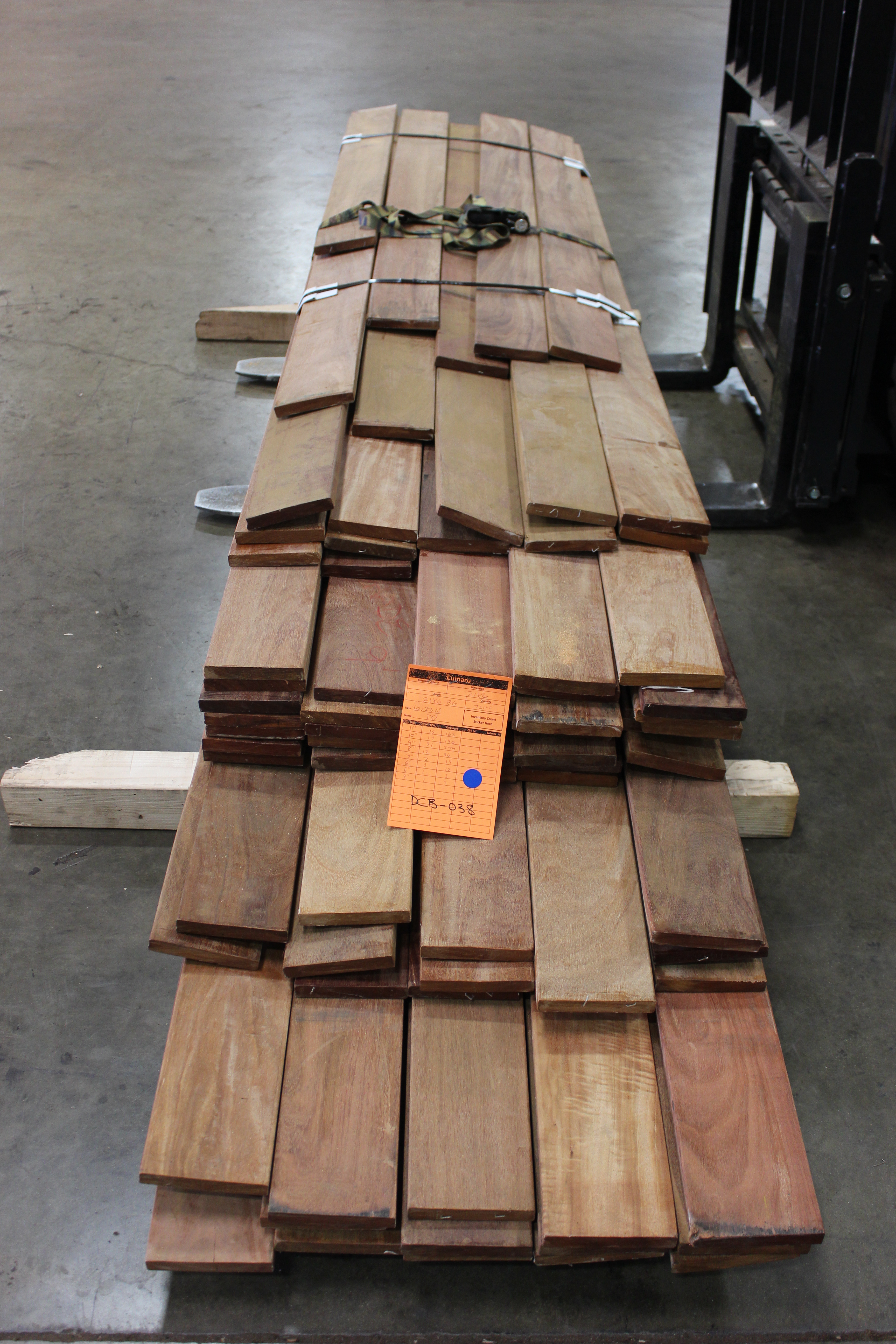 21mmx6 B-Grade Tigerwood