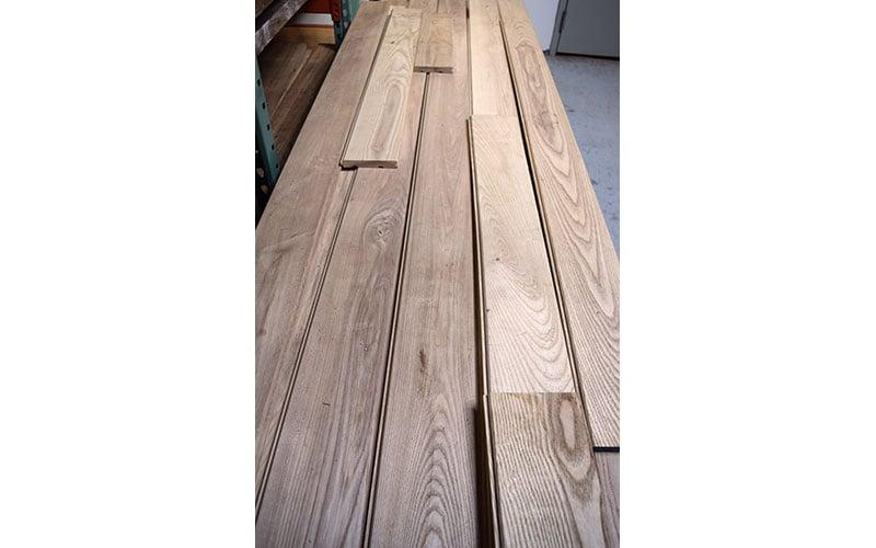 Ash V-Groove Ceiling Planks
