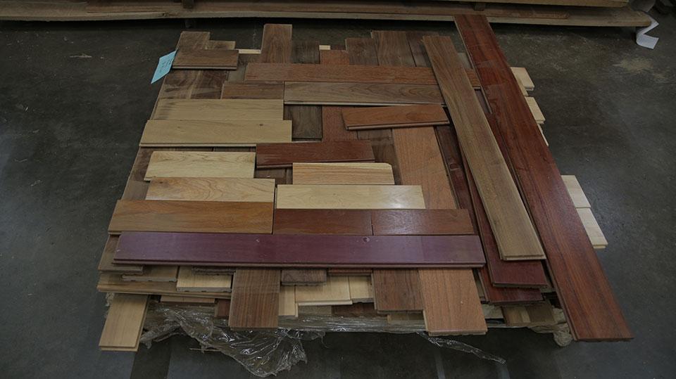 NY1003: Mixed Prefinished Hardwood Flooring - DEFECT