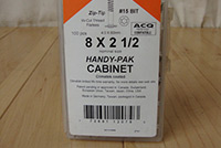 Cabinetry Screw