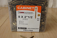 #8x 2-1/2 inch Cabinetry Screw