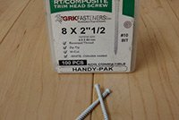 White Trim Screw