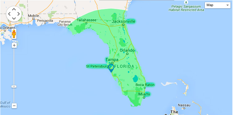 florida shipping map