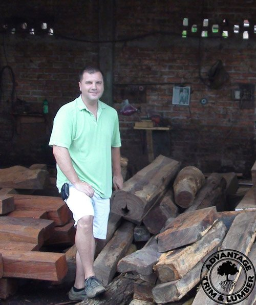 Owner, Rob Pelc personally watched how our inventory of cocobolo was harvested.