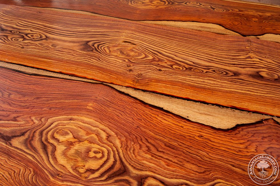 cocobolo lumber boards