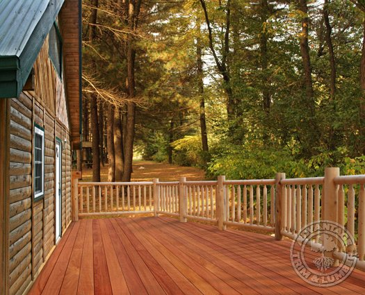 Cumaru decking gallery cumaru deck photos for Log home decks