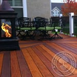 cumaru decking with fireplace