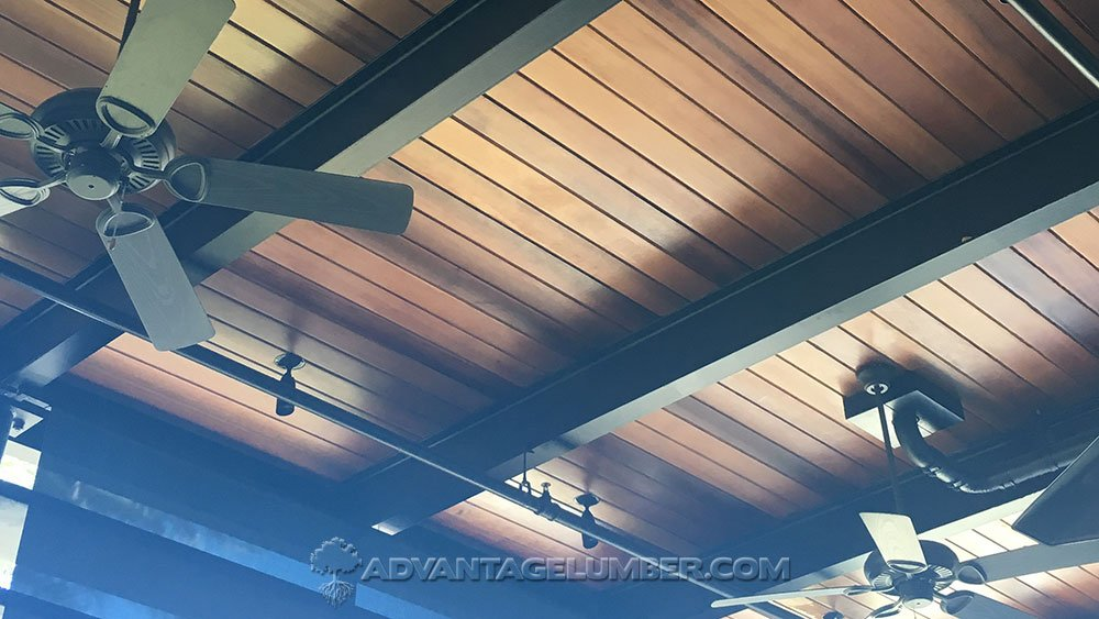 image of modern wood ceiling planks