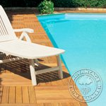 wooden deck tile
