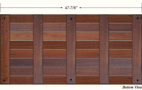 24x48 ipe deck tiles