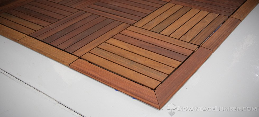 deck tile trim 20x20