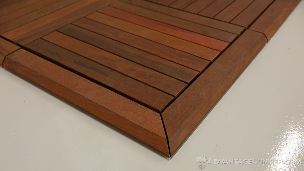 deck tile trim 24x24