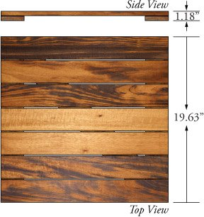 tigerwood deck tiles 20x20