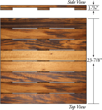 tigerwood deck tiles 24x24