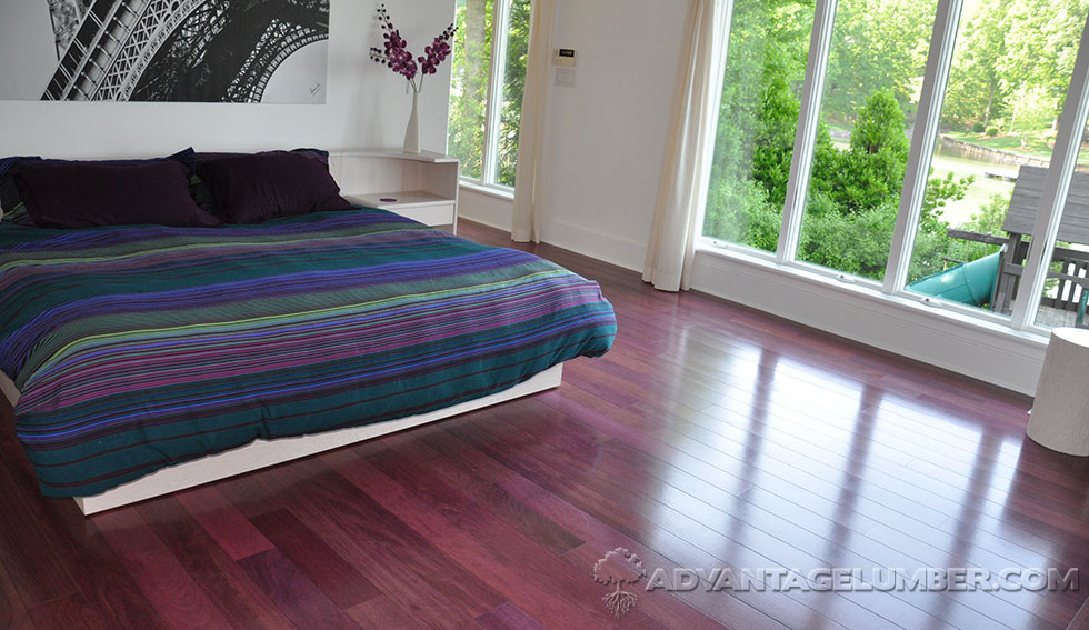 Purpleheart Flooring