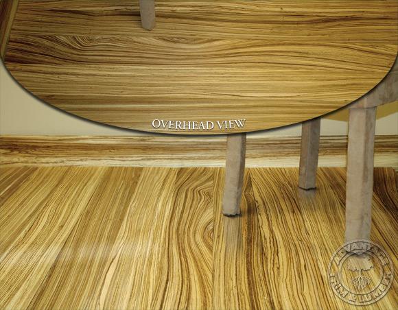 Zebrawood Flooring Creates Beautiful Rooms with a Warm TouchZebra Wood Flooring