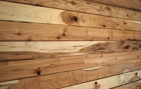 4 Unfinished Rustic Hickory Flooring Solid