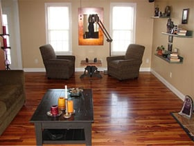 hardwood flooring after