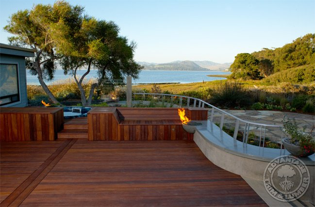 ipe decking and outdoor cooking area gallery