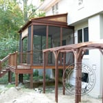 Ipe Arbor and Screened Deck