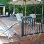 Ipe Deck with Chairs and a Gazebo
