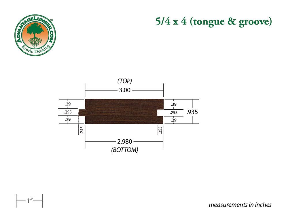 Ipe 5 4x4 Tongue Groove