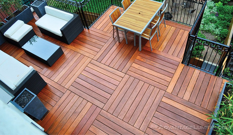 Wood decking materials advantage hardwood benefits