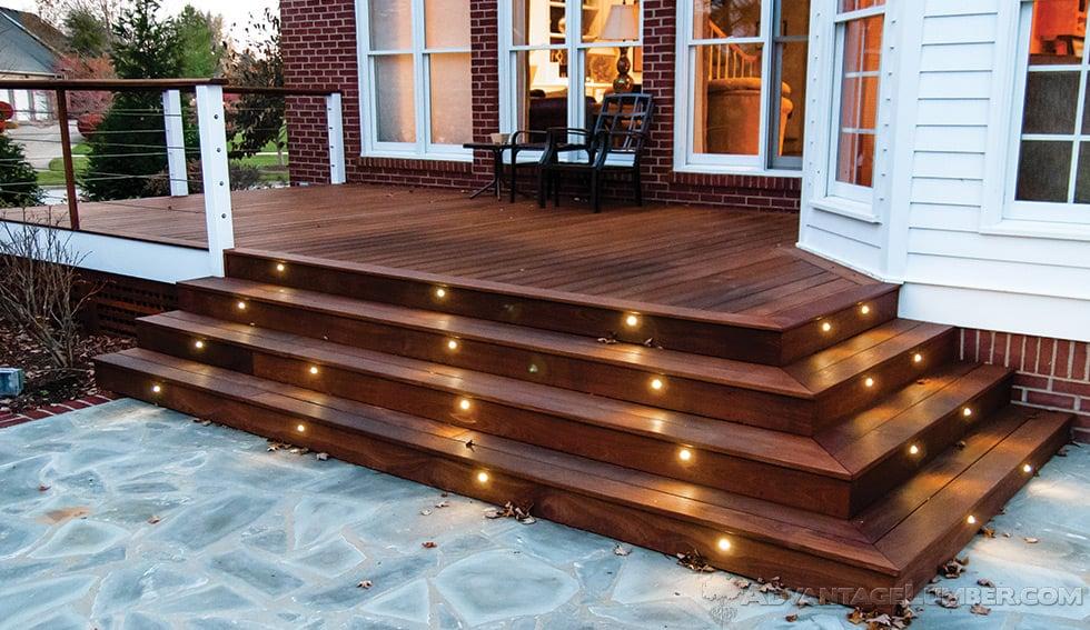 Advantage Deck Lighting Led Post Caps Rail Lights