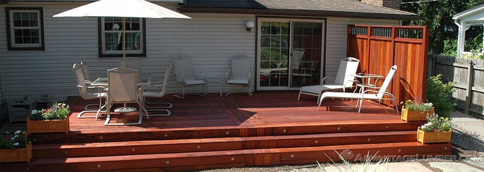 tigerwood deck after