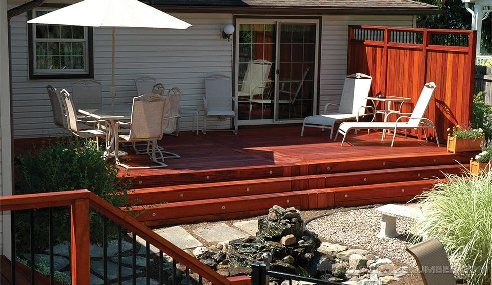 Tiger wood deck for 4 8 meter decking boards