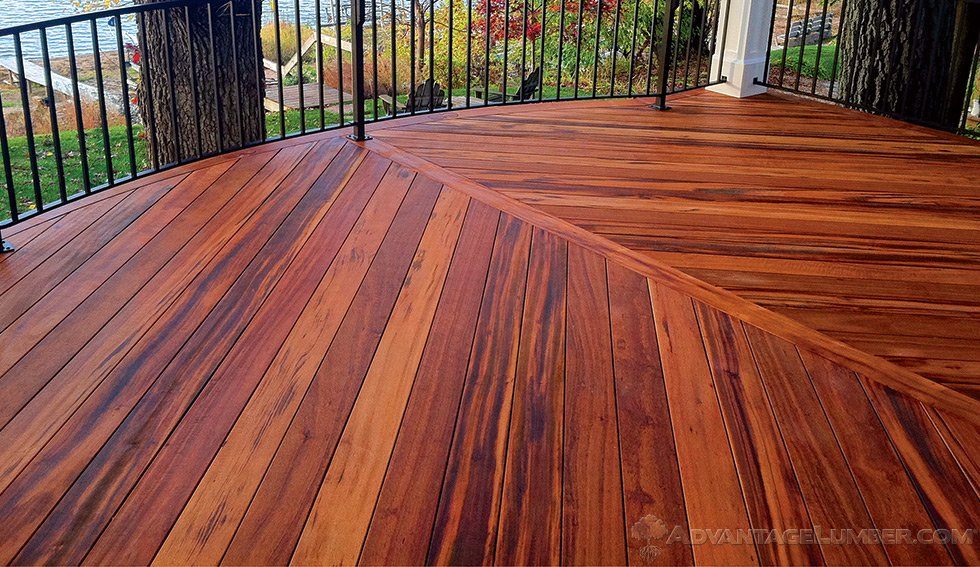 Tigerwood decking tigerwood lumber tigerwood deck for Hardwood decking planks