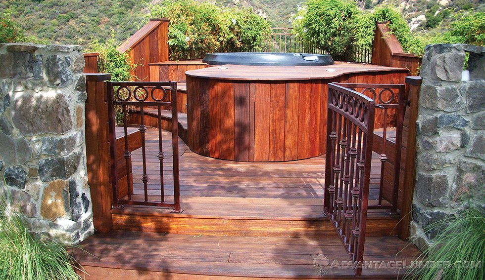 Wood decking materials advantage hardwood decking benefits for Timber decking materials