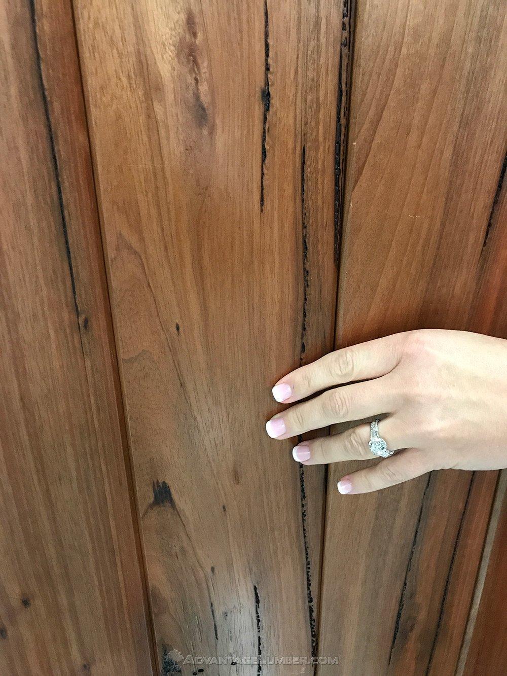 pecky bolivian walnut detail