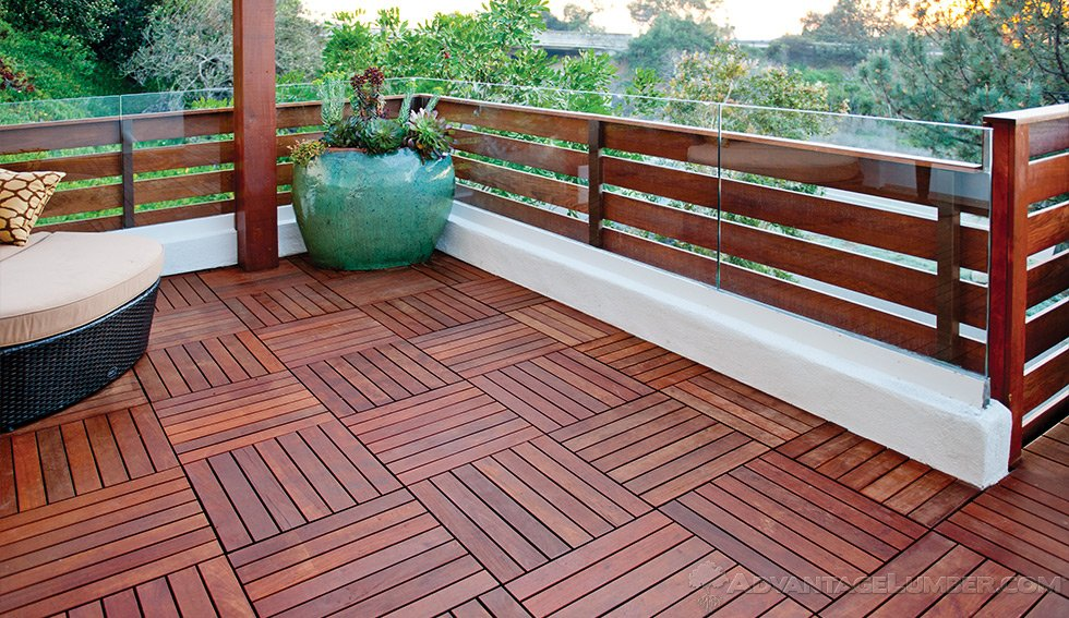 5 Level Ipe Deck With Fence Amp Deck Tiles Del Mar California
