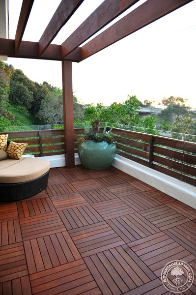 5 level ipe deck with fence deck tiles del mar california discover the versatility of building with ipe deck tiles ipe decking ppazfo