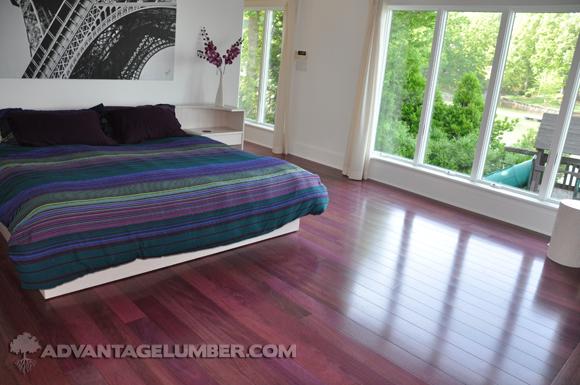 Purpleheart flooring for Purple heart wood flooring