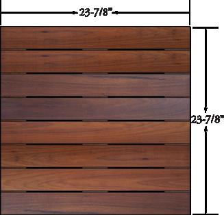 Deck Tiles - Ipe Wood Deck Tiles