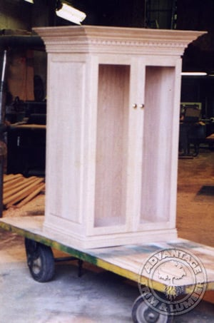 solid red oak cabinet