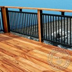 Tigerwood Decking Installed on a Dock