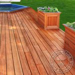 Beautiful Tigerwood Deck with a Hottub