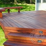 Beautiful Tigerwood Deck and Bench