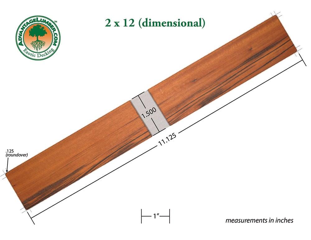 Tigerwood 2x12, B-Grade