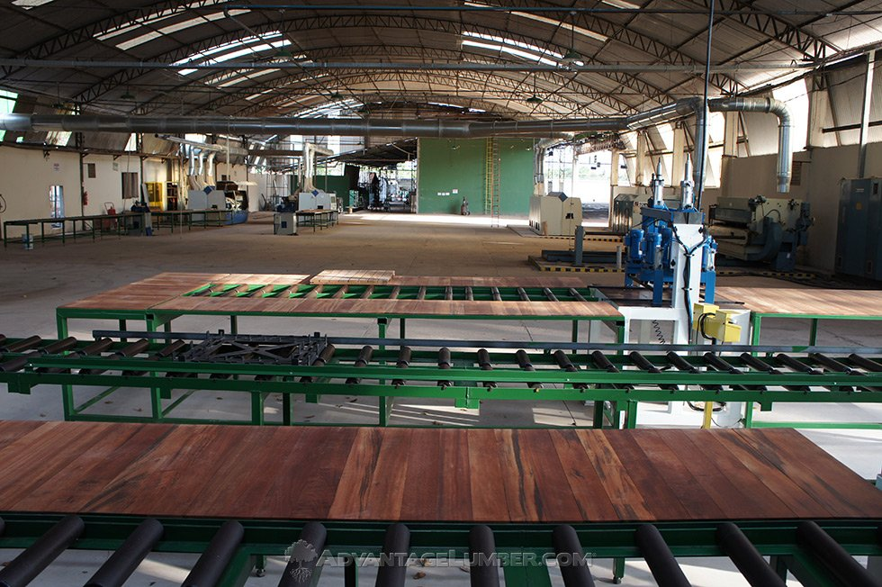 Deck tile production line and mill