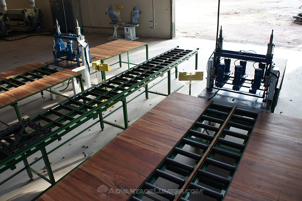 Deck tile production line