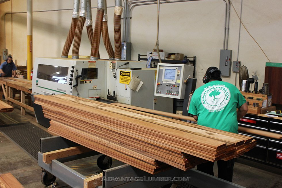 milling tigerwood decking