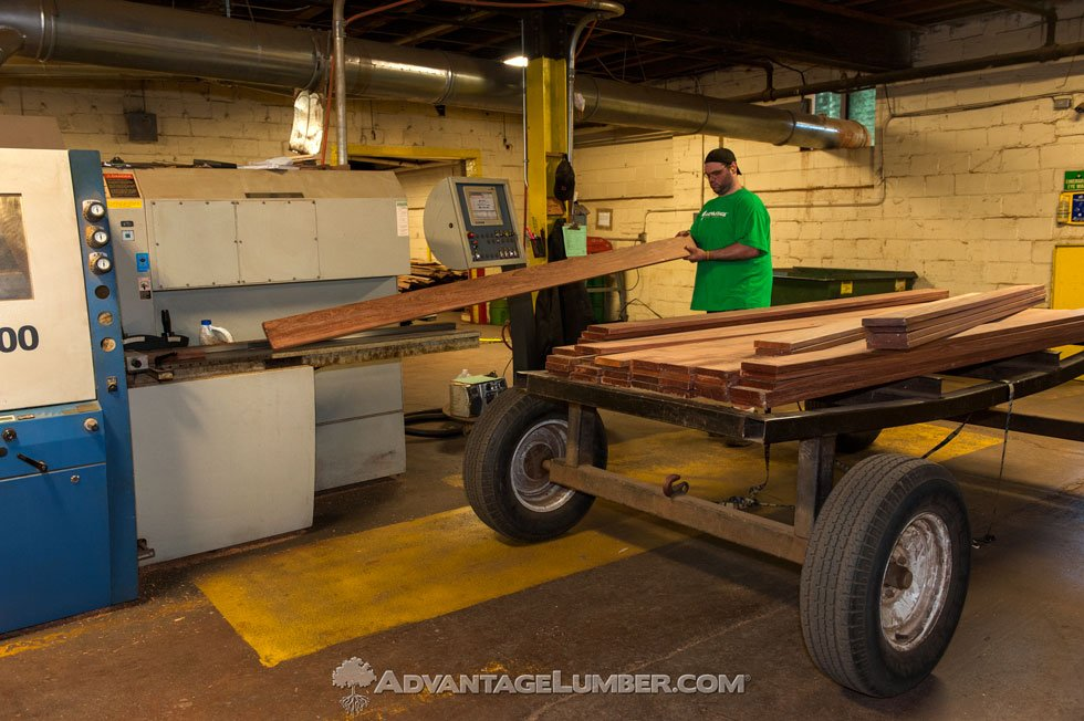 hardwood decking production facility in buffalo