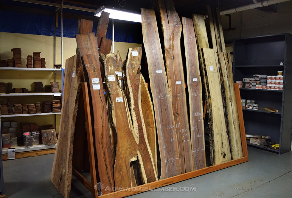 We Offer A Wide Variety Of Wood Slabs At Our Buffalo Facility