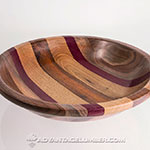 Black Walnut, Purpleheart, Butternut, and Cocobolo by Bill Foreman